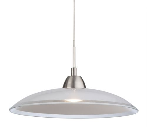 Firstlight 8376BS Brushed Steel with Glass Nassau LED Pendant